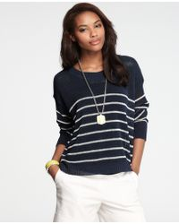 Ann Taylor Nautical Stripe Sweater - Lyst