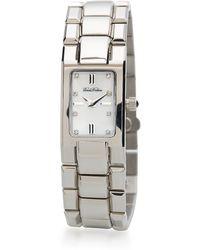 Brooks Brothers Ladies Motherofpearl Bracelet Watch - Metallic
