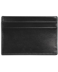 Brooks Brothers French Calfskin Slim Card Case black - Lyst