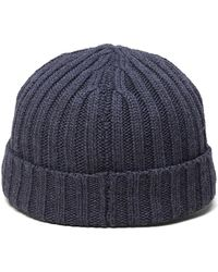 Brooks Brothers Country Club Rib Knit Hat gray - Lyst