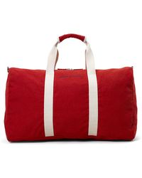 Brooks Brothers Canvas Duffel Bag - Red