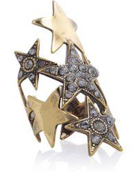 Emilio Pucci Crystal embellished Star Ring gold - Lyst