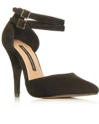 French Connection Tiarella Ankle Strap Courts - Black