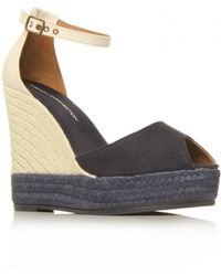 French Connection Morgan Sfax7 Wedges - Gray