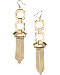 Topshop Square Spike Chandelier Earrings - Lyst
