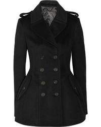 Burberry Prorsum - Double breasted Wool and Cashmere blend Coat - Lyst