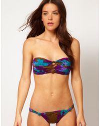 Seventh Wonderland Amadora Triple Knot Bandeau Bikini - Multicolor