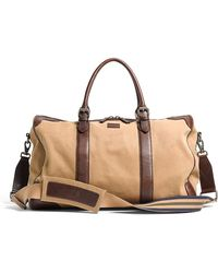 Brooks Brothers Washed Canvas and Leather Duffle - Natural