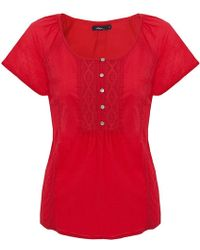 Dash | Red Embroidered Blouse | Lyst