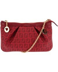 Fendi Monogram Chain Bag red - Lyst