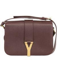 Saint Laurent Medium Chyc Mini Tweed and Leather Bag - Lyst