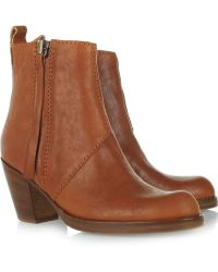 Acne Studios - Pistol Leather Ankle Boots - Lyst