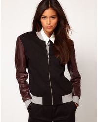 Antipodium Clandestiny Jacket with Contrast Leather Sleeves black - Lyst