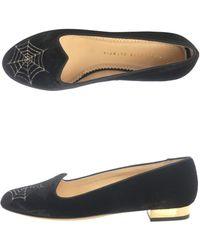 Charlotte Olympia Charlottes Web Flat Shoes black - Lyst