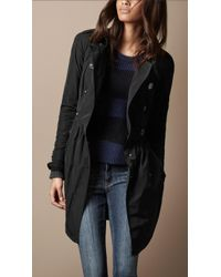 Burberry Brit Midlength Gathered Skirt Trench Coat black - Lyst