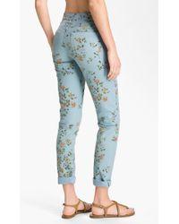 Citizens of Humanity Mandy High Waist Slim Leg Floral Print Jeans - Lyst