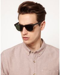 Ray-ban Clubmaster Sunglasses in Black for Men | Lyst