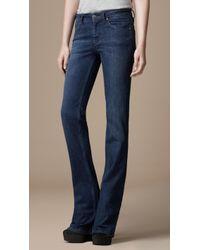 Burberry Chelsea Blue Bootcut Jeans