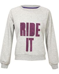 House of Holland Ride It Cotton Sweatshirt beige - Lyst