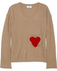 Sonia by Sonia Rykiel Heart Appliqué Angora Blend Sweater - Lyst