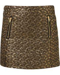 Topshop  Jacquard Mini Skirt - Lyst