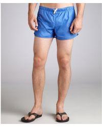 Gucci Pacific Blue Nylon Swim Trunks - Lyst
