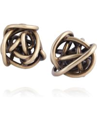Kelly Wearstler - Brass Knot Stud Earrings - Lyst