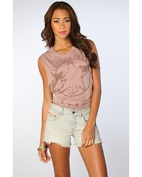 Free People The Denim Cut Offs with Pink Fray in Warner Blue blue - Lyst
