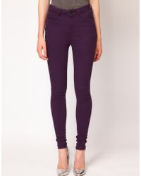 Just Female - Coloured High Waisted Skinny Jeans - Lyst