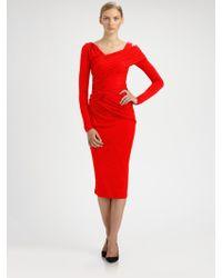 Donna Karan New York Stretch Jersey Dress - Lyst