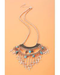 Nasty Gal Cross Necklace - Lyst