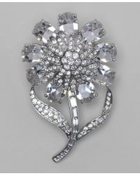 Brooks Brothers - Faceted Dahlia Brooch - Lyst