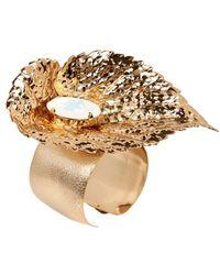 Halaby Gold Leaf Bracelet - Metallic