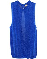 H&M Top blue - Lyst
