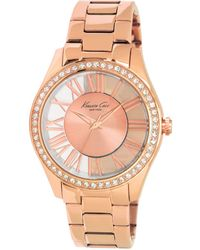 Kenneth Cole Women'S Rose Gold Ion Plated Stainless Steel Bracelet 39Mm Kc4852 - Lyst
