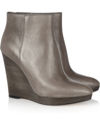 Kors by Michael Kors Shailym Leather Wedge Ankle Boots - Lyst