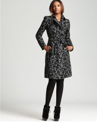 Burberry Burberry London Trench Coat Vale Floral Tweed - Lyst