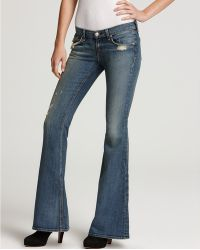 Ash - Rag Bonejean Flare Jeans Low Rise in Destroyed Wash - Lyst