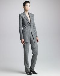 Giorgio Armani Herringbone Tweed Suit - Grey