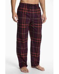 Burberry Check Pajama Pants brown - Lyst