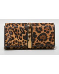 Christian Louboutin Alina Leopardprint Calf Hair Clutch - Lyst