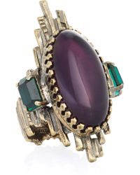 Emilio Pucci - Amethyst and Glass Ring - Lyst