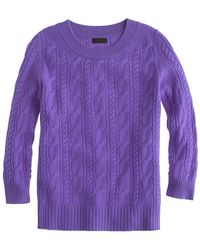J.Crew Collection Cashmere Cable Sweater - Lyst
