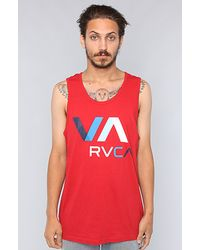 RVCA The Colors Tank in Red - Lyst