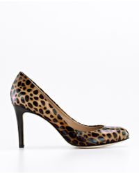 Ann Taylor Perfect Animal Print Patent Leather Pumps - Lyst