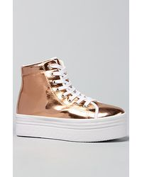 Jeffrey Campbell The Homg Sneaker in Rose Gold and White gold - Lyst