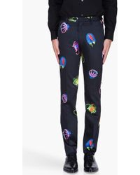 Paul Smith Slim Jellyfish Print Trousers - Lyst