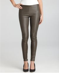 Vince Leather Leggings Stretch Zip Ankle - Lyst