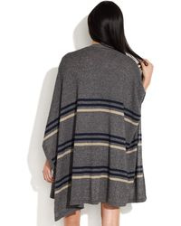 Madewell - Striped Summertide Poncho - Lyst