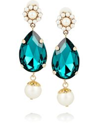 Dolce & Gabbana Goldplated Swarovski Crystal Clip Earrings - Lyst